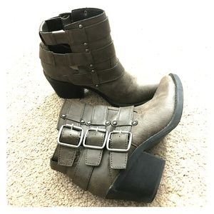 F21 Buckle Booties • Size 6